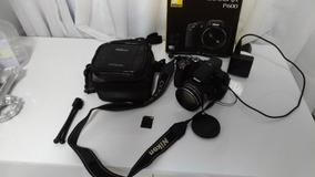 Câmera Semi-profissional Nikon P600 16.1 Zoom 60x Semi Nova