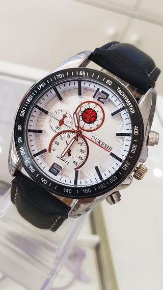 Relógio Masculino Pulseira De Couro Bonito Oferta Promoção