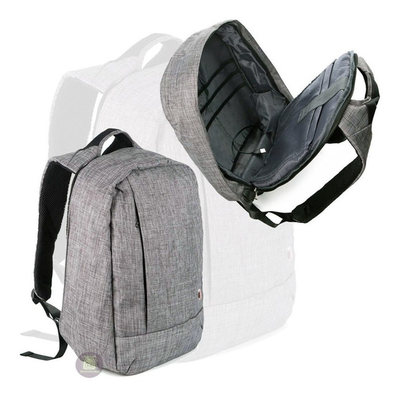 Mochila Anti Furto Impermeavel Para Notebook Com Usb Unissex
