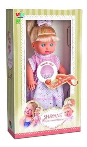 Shayane Linda Boneca Fala 62 Frases Meninas Brinquedos Milk