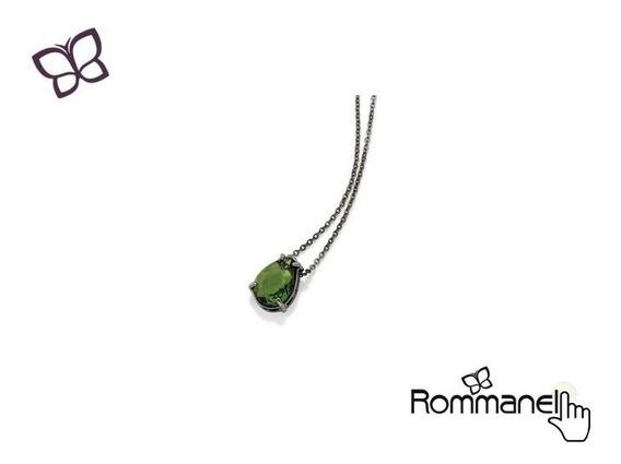Gargantilha Pingente Gota Verde Rommanel 430023