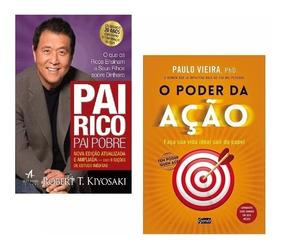Kit Livros Pai Rico Pai Pobre + O Poder Da Ação Lacrado