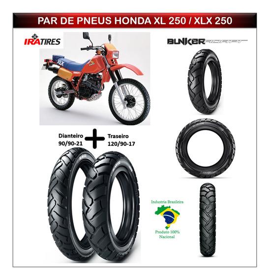 Pneu 90/90-21 E Pneu 120/90-17 Honda Xl 250 / Xlx 250 Ira