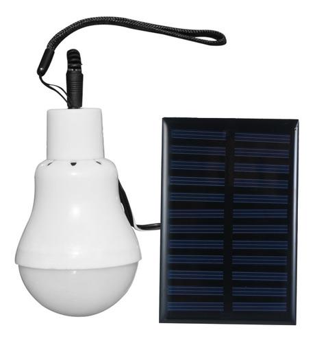 Imagen 1 de 7 de Bombilla De Energía Solar Led Bombilla Con Panel Solar