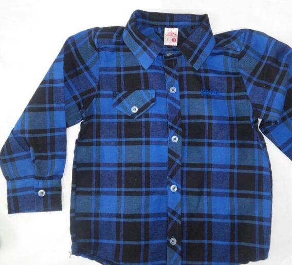 Camisa Leñadora Para Bebes Desde 3 Meses A 2 Años