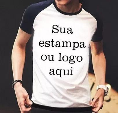 Camiseta Raglan Personalizada Com Sua Estampa Foto Imagem