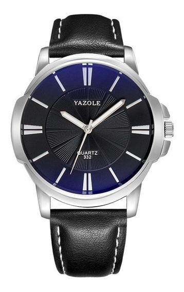 Relógio Masculino Yazole De Couro Vários Modelos