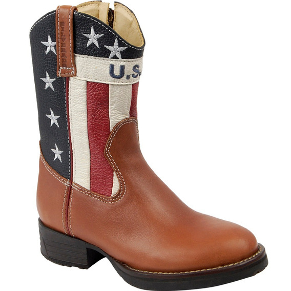 Bota Country Texana Infantil Silverado Couro Floater Usa