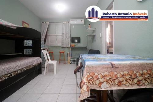 Imagem 1 de 6 de Kitnet Com 1 Dormitório À Venda, 26 M² Por R$ 140.000,00 - Canto Do Forte - Praia Grande/sp - Kn0184
