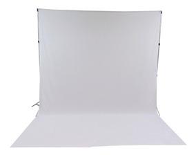 2 Tecido 3x2 Branco/preto + Suporte Fundo Infinito P/ Foto