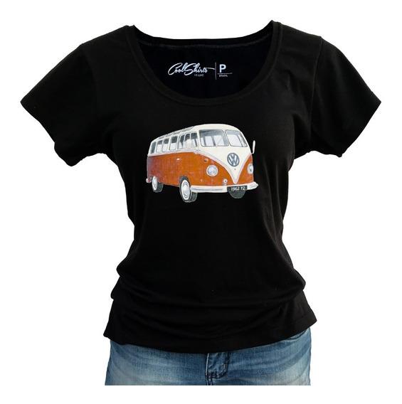 Camiseta Baby Look T-shirt Feminina Kombi Melhor Preço