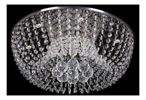 Lustre Plafon De Cristal K9 Redondo 27 Diametro +led Gratis