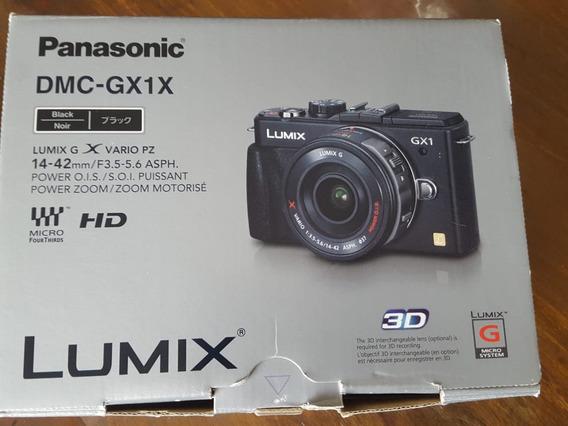 Câmera Lumix Gx1 Com Lente 14-42mm Power Zoom.