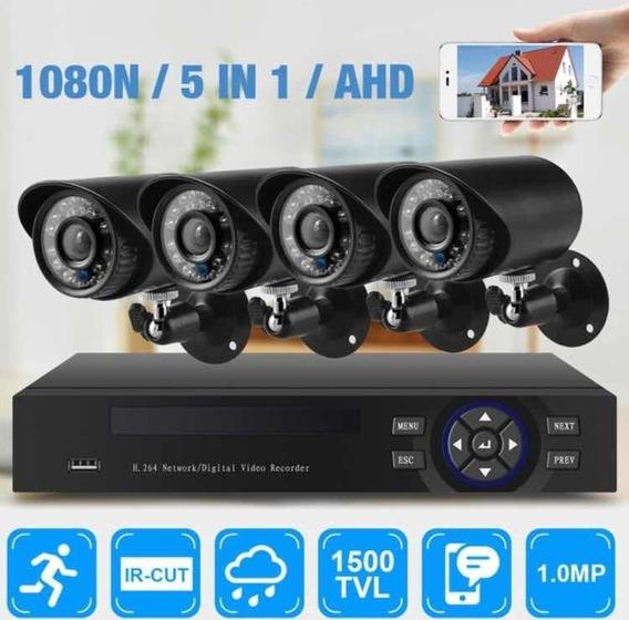 Kit 4 Câmeras De Segurança Prot. Ip66 Night Vision + Dvr 1tb