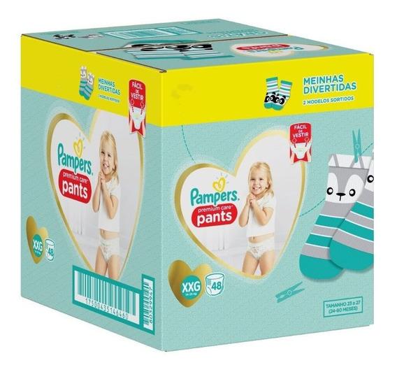 Fralda Calça Pampers Xxg Premium Care Pants 48 Unidades