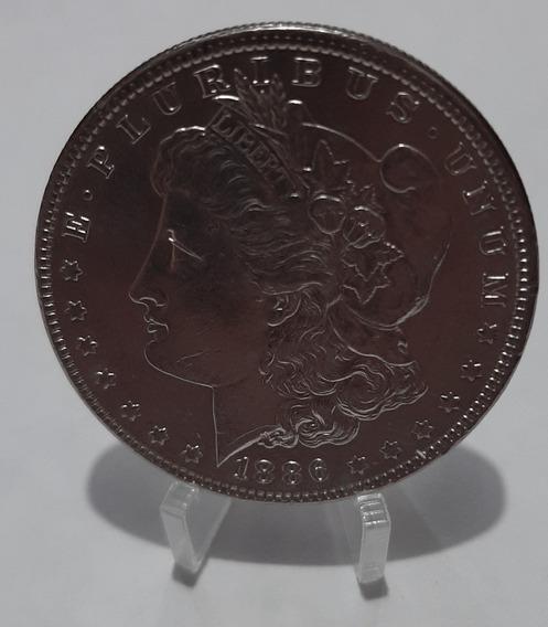 Usa Moneda 1 Dolar 1886 Plata Morgan Km 110 Xf