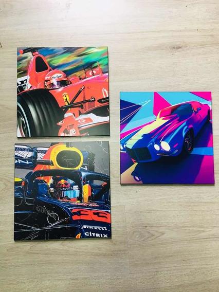 Cuadro Autos Formula 1 Set 2 Piezas Varios Modelos