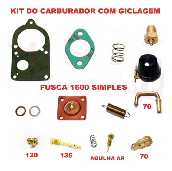 Kit Carburador Fusca/kombi 1600 72/... Carb - Simples