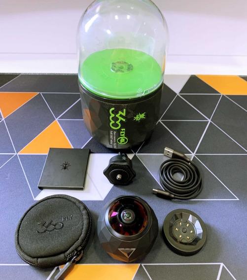 Câmera 360º Fly 4k   64gb   Preta   Ação   Na Caixa   Usado