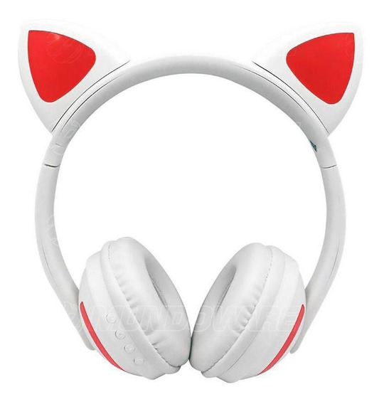 Headphone Com Orelhas De Gato E Iluminação Led Hf-c240bt