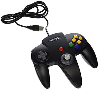 Retrolink Wired N64 Style Controlador Usb Para Pc Y Mac Negr