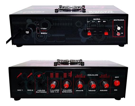Amplificador Mesa Mixer 300wrms 2 Canal Som Igreja Casa Loja
