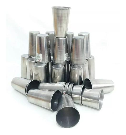 Kit 10 Copos De Aço Inox 6,5 Cm Copo Com Capacidade De 250ml