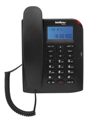 Imagen 1 de 2 de Teléfono fijo Intelbras TC 60 ID negro