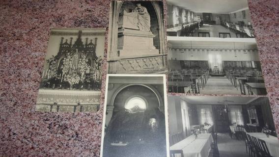 6 Postales Antiguas De España: Gruta Lourdes En Goya + Otras