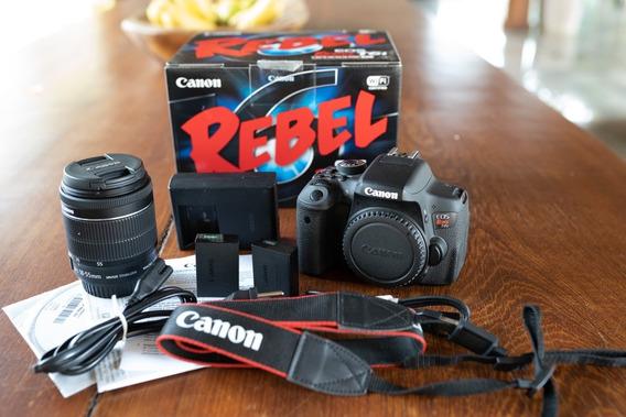 Canon T6i +lente 18-55mm+na Caixa+bateria Xtra +frete Grátis