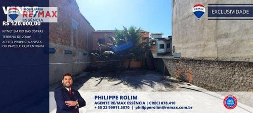 Imagem 1 de 6 de Kitnet Com 2 Dormitórios À Venda, 80 M² Por R$ 120.000,00 - Jardim Campomar - Rio Das Ostras/rj - Kn0002