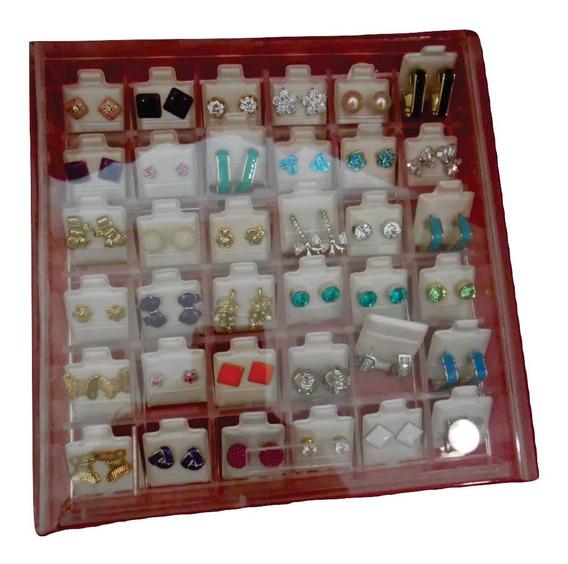 Caja Organizadora De Aretes En Acrílico 36 Divisiones 3 Pz