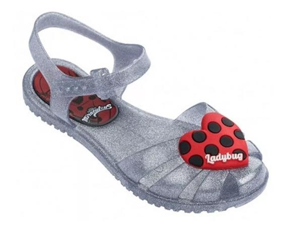 Sandália Ladybug Infantil Feminina Grendene Original Calçado