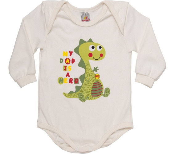 Roupa Bebê Menino Body Manga Longa Gola Americana Suedine