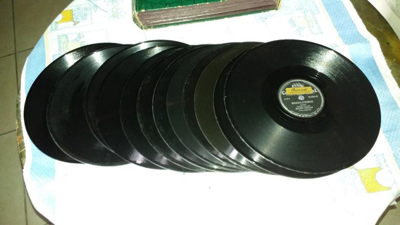 12 Disco De Vinil Antigo Decada De 40/50