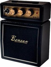Mini Amplificador Guitarra Benson Am2 Preta Diná Eletro