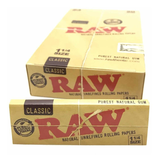 Raw Natural Refinado Papel Para Armar 1.1/4 24x50 Local Once