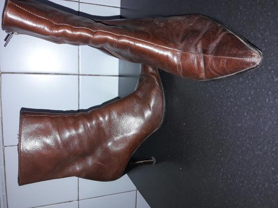 Zapatos Botas Mujer Cuero Muy Buena Calidad