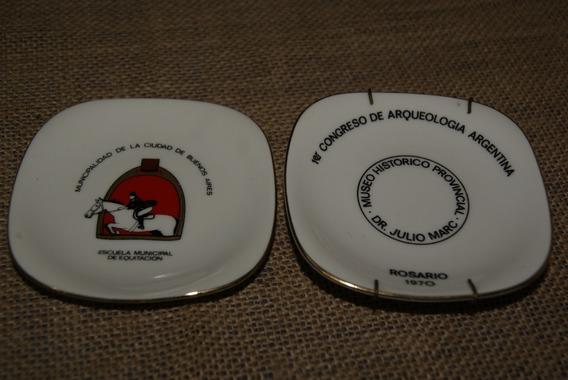 Lote 2 Platitos Militares Porcelana Verbano