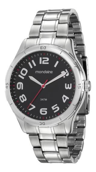 Relógio Mondaine Masculino Analógico Prata Original