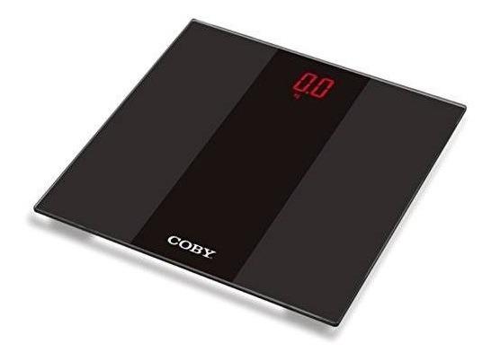 Coby Led Ultra Moderno De Vidrio Templado Digital Báscula De