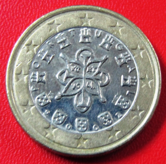 Portugal Moneda Bimetalica 1 Euro 2002 Au Km #746