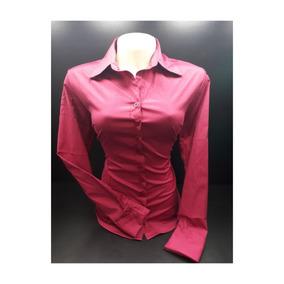 Camisa Feminina Social Slin Evangelica Lisa 2 Peças Promoção