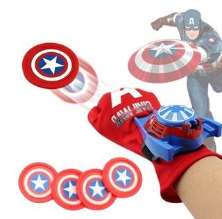 Luva Lançadora De Disco + Mascara Capitão América