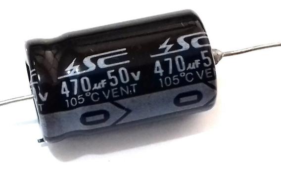 1 Capacitor Eletrolitico 470uf 50v Sc Axial Marshall Fender