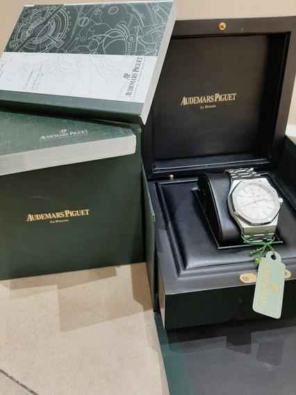 Reloj Suizo Automático Audemars Piguet Royal Oak Blanco