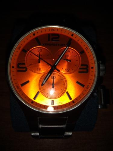 Reloj Kevingston Acero Inox. Cronógrafo.