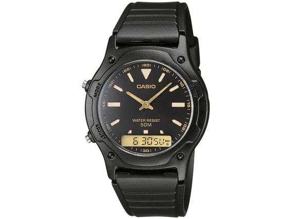 Relógio Masculino Casio Anadigi - Aw-49he-1avdf Novo
