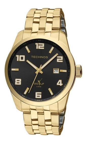 Relógio Technos Golf Masculino Analógico Dourado Original