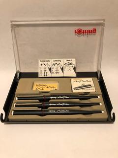 Rotring Art Pen Lettering Set X 3 Plumas + 6 Cartuchos
